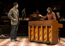 Steve Kazee and Cristin Milioti in <i>Once </i>