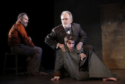 Daniel Oreskes, Ron Rifkin, and Noah Robbins in &lt;i&gt;The Twenty-Seventh Man&lt;/i&gt;