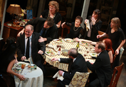 A very fraught family dinner in Tracy Letts' Pulitzer Prize-winning <i>August: Osage County</i>.