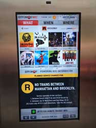TheaterMania's Broadway guide on a new SmartScreen – inside a ph