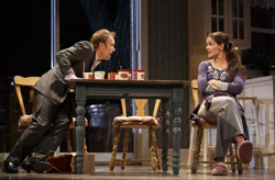 Nobert Leo Butz and Katie Holmes in <i>Dead Accounts</i>