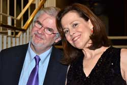 """Legend of Off-Broadway"" honorees Christopher Durang and Sigourney Weaver"