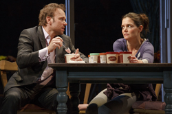 Norbert Leo Butz and Katie Holmes in <i>Dead Accounts</i>