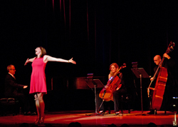 Julia Murney performs at <i>Broadway Unplugged</i> on December 3.