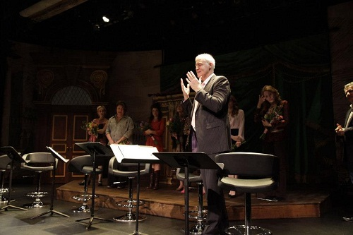 Playwright Robert Harling catches the audience up to date on <i> Steel Magnolia</i>'s characters, which are based on real people, after a 25th anniversary reading at the Lucille Lortel Theatre.