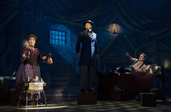 Chita Rivera, Stephanie J. Block, and Will Chase in &lt;I&gt;The Mystery of Edwin Drood&lt;/I&gt;.