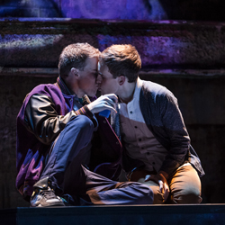 Jason Hite and Taylor Trensch in <i>Bare</i>