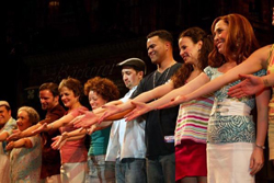 Lin-Manuel Miranda with the Broadway cast of <i>In The Heights</i>
