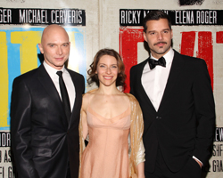 Michael Cerveris, Elena Roger, and Ricky Martin