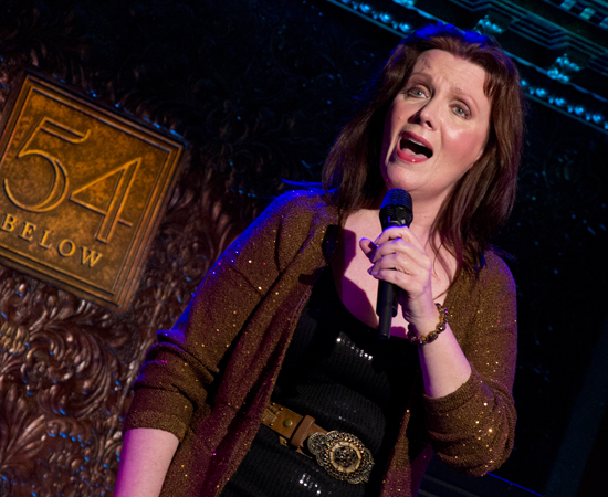 Maureen McGovern on stage at 54 Below.