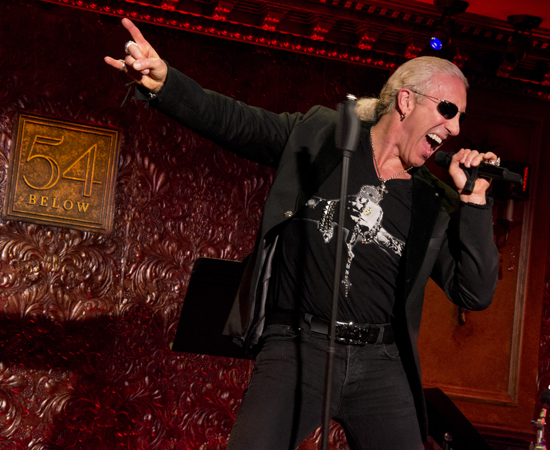 Dee Snider on stage at 54 Below.