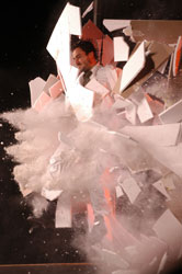 A scene from <I>Fuerza Bruta: Look Up</i>