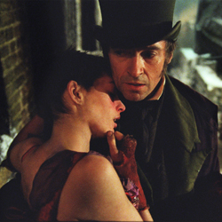 Anne Hathaway and Hugh Jackman in <i>Les Miserables</i>