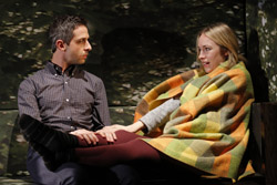 Jeremy Strong and Sarah Goldberg in <i>The Great God Pan</i>