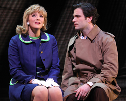 Betsy Wolfe and Colin Donnell in <i>Merrily We Roll Along</i>