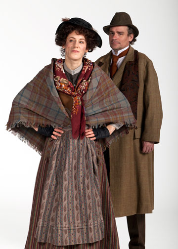 Charlotte Parry stars as Eliza Doolittle and Robert Sean Leonard as Professor Henry Higgins in The Old Globe's 100th anniversary production of George Bernard Shaw's Pygmalion.