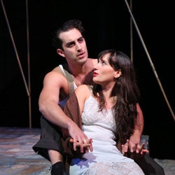 Cooper Grodin and Daniella Rabbani in <I>The Golden Land</I>.
