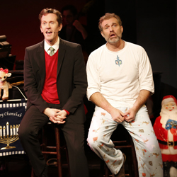 Jeffry Denman and Marc Kudisch are <i>The Holiday Guys in Happy Merry Hanu-mas</i>.