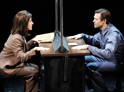 Jenn Harris and Brent Barrett in <i>Silence! The Musical</i>