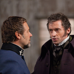 Russell Crowe and Hugh Jackman in <i>Les Miserables</i>