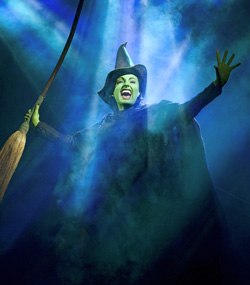 Jackie Burns in <I>Wicked</I>.