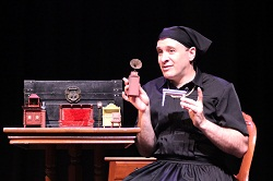 Kraig Swartz depicts a cross-dresser in Doug Wrights Pulitzer-winning play &lt;i&gt;I Am My Own Wife&lt;/i&gt;.