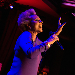Leslie Uggams on stage at 54 Below.