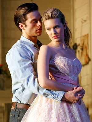 Sebastian Stan and Maggie Grace star as lovers in <i>Picnic</i>.