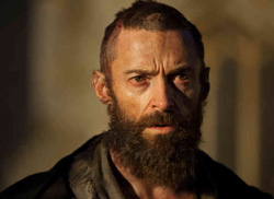 Hugh Jackman as Jean Valjean in <i>Les Miserables</i>