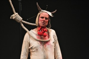 Tim Crouch stars as Shakespeare&#039;s Malvolio in his one-man-show &lt;i&gt;I, Malvolio&lt;/i&gt;.