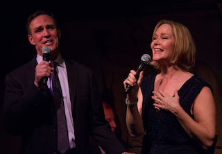 Howard McGillin and Rebecca Luker perform on the opening night of <i>Broadway Romance</i> at the Café Carlyle.