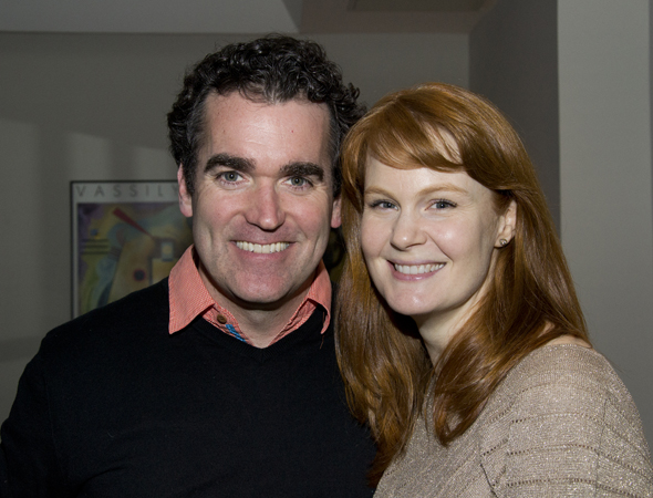 <i>Giant</i> co-stars Brian d'Arcy James and Kate Baldwin.
