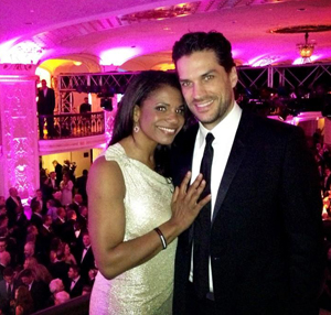 McDonald and Swenson at the HRC inaugural ball, via @thewillswenson on Twitter