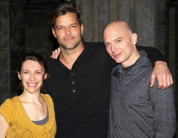 Elena Roger, Ricky Martin, and Michael Cerveris