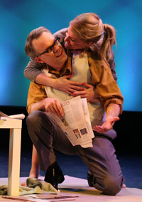 Jonathan Rayson and Morgan Weed in the revival of <i>The Fig Leaves are Falling</i> at the Connelly Theatre.