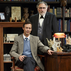 Tom Cavanagh and Judd Hirsch in <i>Freud's Last Session</i>