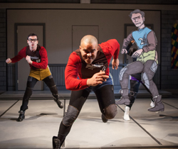 Dan Domingues and Christopher Jackson in <i>The Jammer</i>