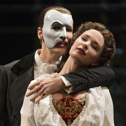 Hugh Panaro and Sierra Boggess in <i>The Phantom of the Opera</i>