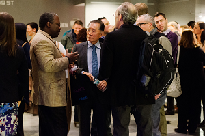 George Takei mingles with fans after his performance at TEDxBroadway 2013.