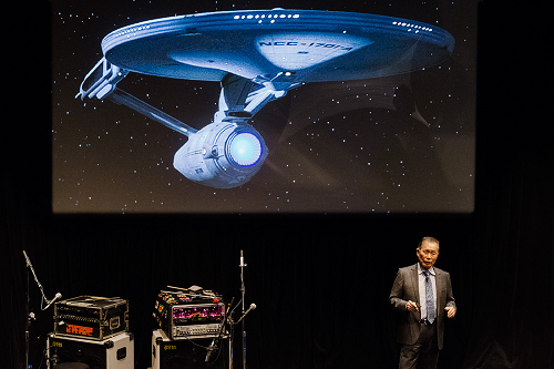 George Takei, in all his Star Trek glory, presents at TEDxBroadway 2013, held at New World Stages on January 28.