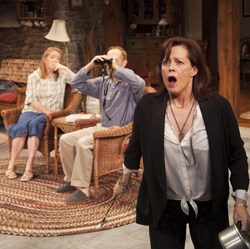 Kristine Nielsen, David Hyde Pierce, and Sigourney Weaver in <i>Vanya and Sonia and Masha and Spike</i>