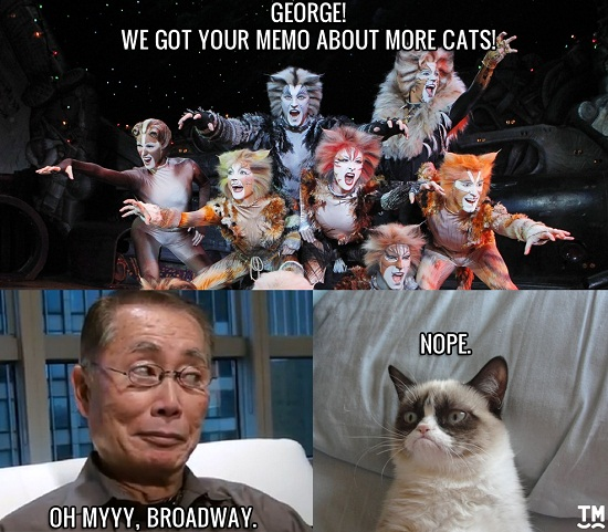 A social media-friendly version of art for this interview, from the Takei School of New Media.