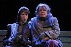 Dierdre O'Connell and Noah Robbins in <i>The Vandal</i>.