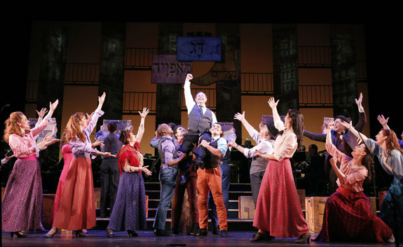 Danny Rutigliano and the cast of <I>Fiorello!</I>
