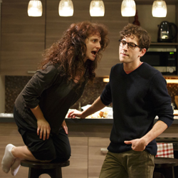 Tracee Chimo and Michael Zegen in <i>Bad Jews</i>