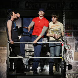 Michael Esper, Stark Sands, and John Gallagher Jr. in <i>American Idiot</i>