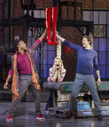 Billy Porter, Annaleigh Ashford, and Stark Sands in <i>Kinky Boots</i> in Chicago