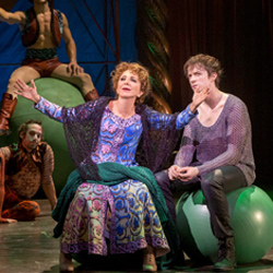 Andrea Martin and Matthew James Thomas in <i>Pippin</i>