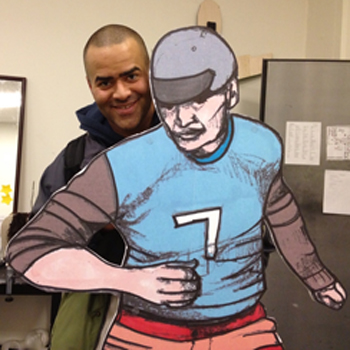 Christopher Jackson and one of his <i>Jammer</i> co-stars.