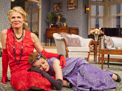 Pamela J. Gray and Katie MacNichol star in Noel Coward&#039;s &lt;i&gt;Fallen Angels&lt;/i&gt; at The Pasadena Playhouse. 